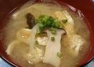 エリンギと玉葱の味噌汁