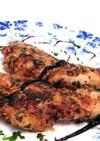 鶏ささみの味噌タードパン粉焼き