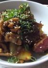さつま芋と豚肉のこっくり炒め
