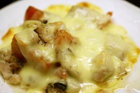 アジとトマトのチーズ焼き