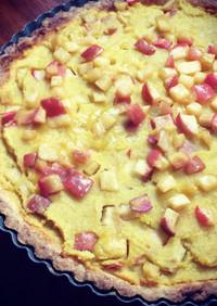 安納芋とリンゴのタルト