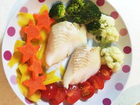 白身魚のかんたん野菜蒸し