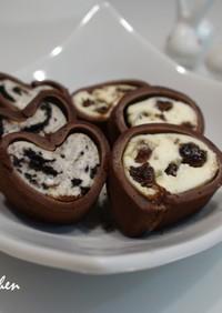 スライス生チョコレートで簡単おつまみ2種