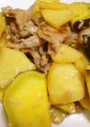 塩麹で味付け!さつま芋・りんご・豚肉炒め