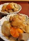 鶏手羽元こんにゃく里芋人参の煮物~圧力鍋