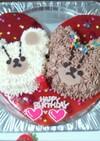 ジャッキーとデイビットの立体ケーキ