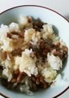 納豆バターご飯