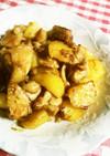 鶏もも肉とじゃがいものにんにく入甘辛炒め