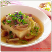 ✿和食 ダイエット豆腐きのこあんかけ✿の写真