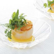 帆立貝のポワレ レモンと香草の香り