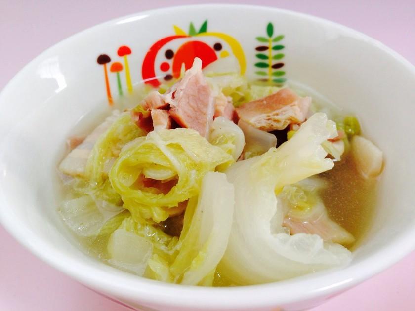 白菜とベーコンの中華風煮