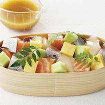 刺し身サラダ ばらちらし風 木の芽風味