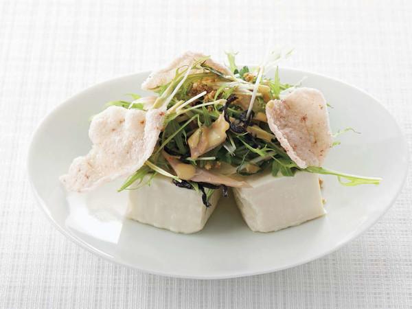 豆腐と塩昆布のサラダ