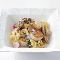 帆立貝とラディッシュのサラダ