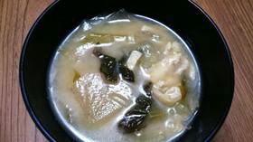簡単☆大根と油揚げの味噌汁