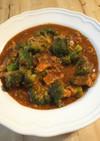 ブロッコリーと鯖缶のミートソース煮