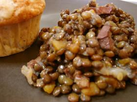 シンプルなレンズ豆の煮込み