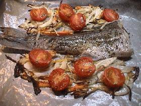 鱸(スズキ)のオーブン焼き