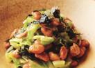 納豆とキャベツの海苔あえ♪