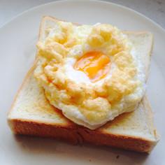 トースターでも簡単◎エッグインクラウド