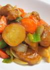 秋の美味しい薩摩芋入り酢豚~ダイズラボ