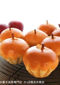 ブリオッシュ型でりんごパン