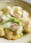白菜と煮込み麩、ツナのすき焼き風