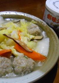 肉団子と白菜のうま煮
