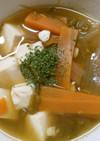 簡単♪野菜と豆腐の 和風コンソメスープ