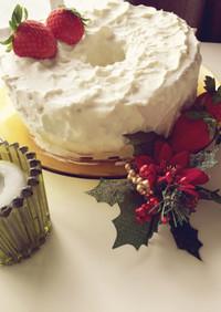 誰でも簡単クリスマスデコレーションケーキ