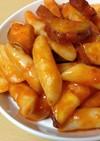 【簡単独り飯】サツマイモ入りトッポッキ