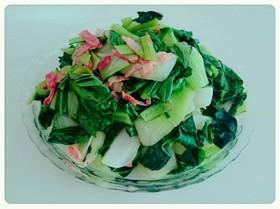 創味シャンタンdeチンゲン菜炒め
