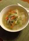 水餃子入りの中華スープ