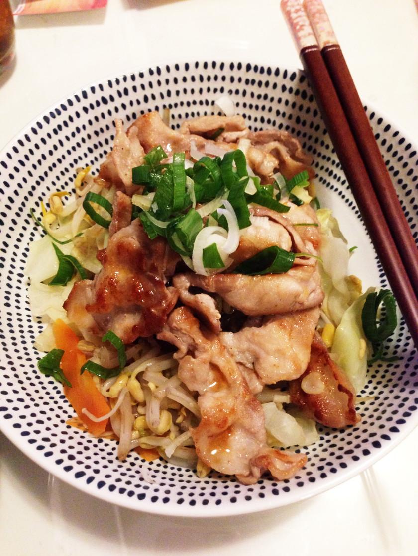 豚肉と蒸し野菜ポン酢
