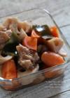圧力鍋で鶏と根菜の煮物にんにく風味
