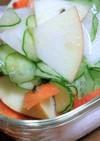 ワンルームご飯★リンゴと根菜のサラダ