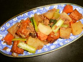 まぐろフレーク味付缶詰を使った野菜の煮物