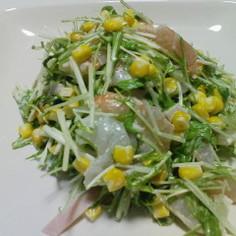 超簡単・海老と水菜のシャキシャキサラダ♪