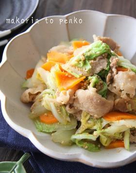 白菜大量消費!豚肉と白菜のごま味噌炒め