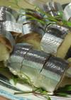 お正月やお祭り用に、さんま寿司(^^♪