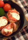 スキレットで♪豚ひれ肉のベーコン巻き