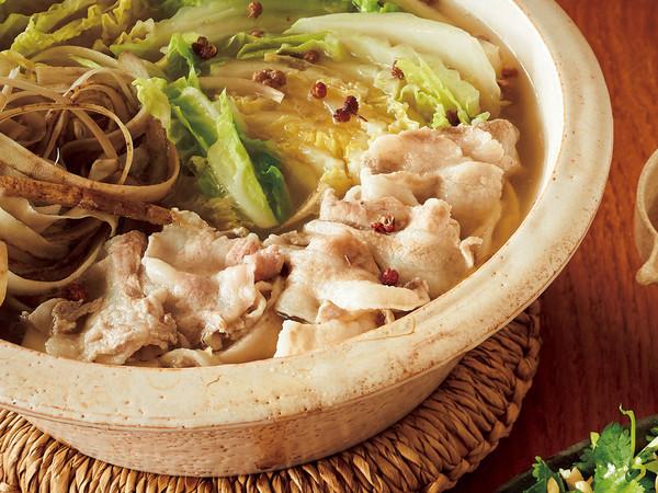 豚バラと白菜の花椒鍋