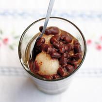 小豆と白玉のジンジャーシロップ
