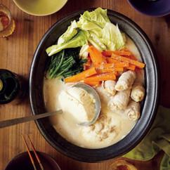 豆腐たっぷり豆乳ごま鍋