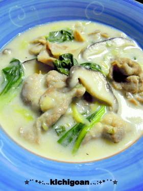 豚肉と青梗菜の中華風クリーム煮