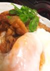 【簡単!】薄豚肉と温泉卵の丼