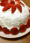 ホットケーキでドームケーキ