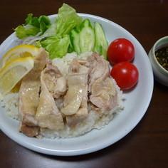 簡単アジアン蒸し鶏飯(カオマンガイ)