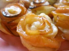 簡単なのに可愛い♪りんごの薔薇のパイ