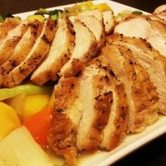 安くて豪華!鶏胸肉のローストと温野菜☆